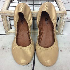 [Lucky Brand] Erin Champagne Gold Ballet Flats